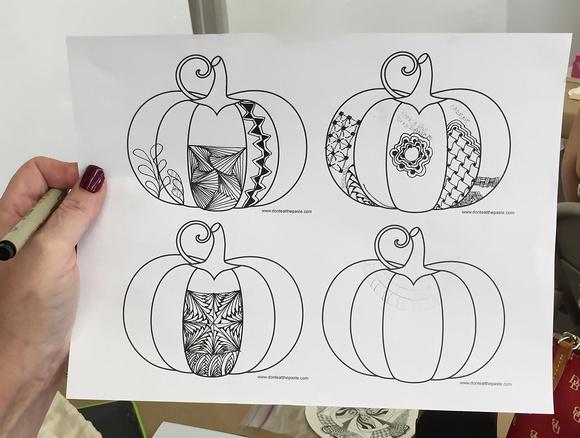 Practice Zentangle Pumpkin Template