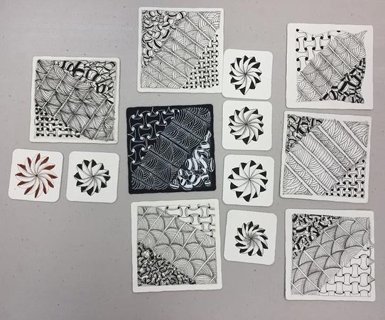 Moving Meditation with Zentangle & Yoga: Tiles