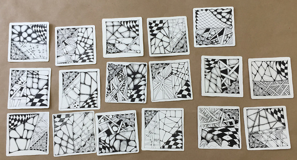 Zentangle Class Tiles