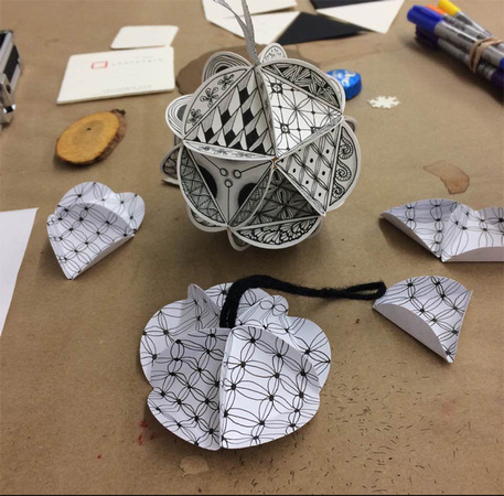 Zentangle Holiday Ornament