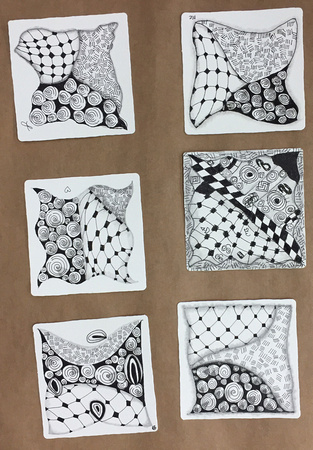 Zentangle 101 Class Tiles