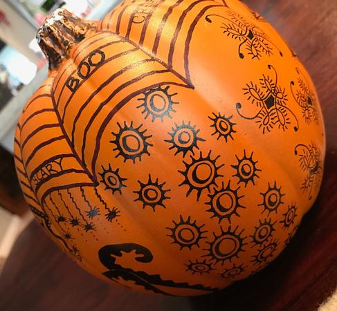 Zentangle Craft Pumpkin