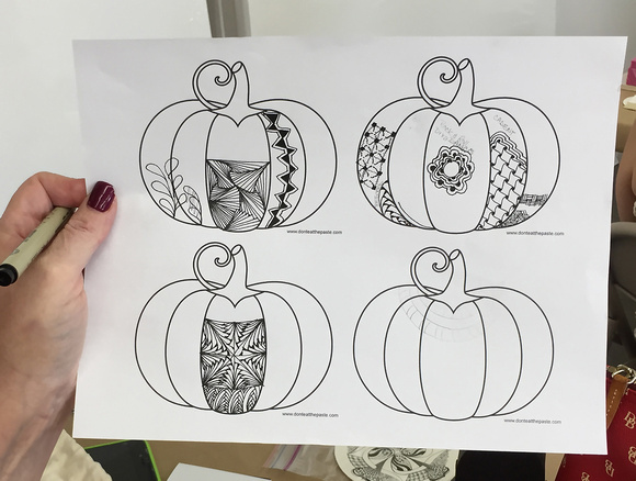 Practice Zentangle Pumpkin Template